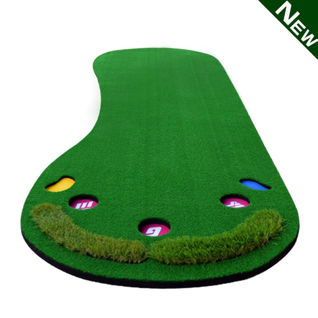 ゴルフグリーン屋内ゴルフ練習マットミニパット練習ポータブルゴルフグリーン (Color : Green, Size : 300cm/118.1inch) 300cm/118.1inch Green B07H4KDJHP
