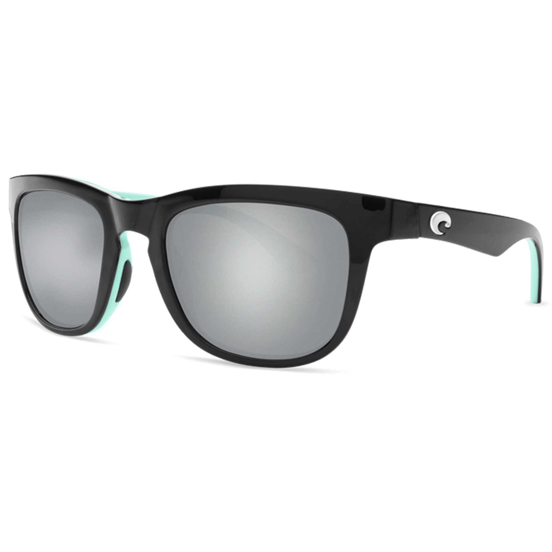 Costa Del Mar Copra Sunglasses Shiny Black/Mint / Gray 580Plastic