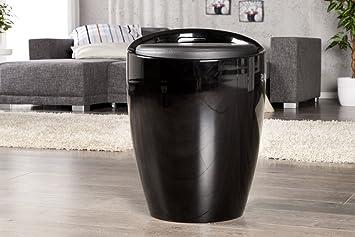 Design Wäschekorb design wäschekorb perla schwarz 25l mit sitz wäschebox gepolstertes