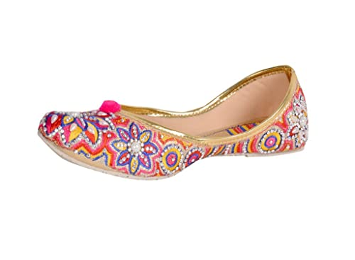 14f0e047 Panahi Pink Ethnic Mojari Juttis Belly Wedding Shoes for Women: Buy Online  at Low Prices in India - Amazon.in