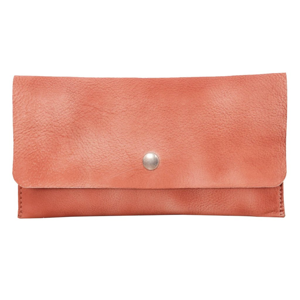 Latico Leathers Ellis Wallet Genuine Authentic Luxury Leather, Designer Made, Business Fashion and Casual Wear, Washed Red