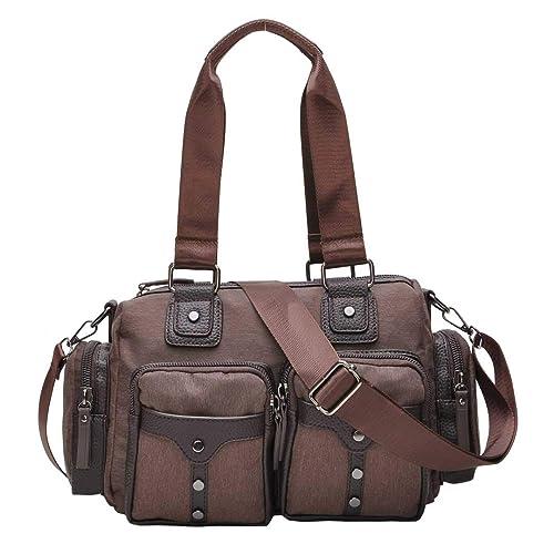 22ea1f02cddbc DIYNP Bolsos mujer Bolso bandolera Moda bolso nylon Impermeable Casual  bolsas (005 marrón)