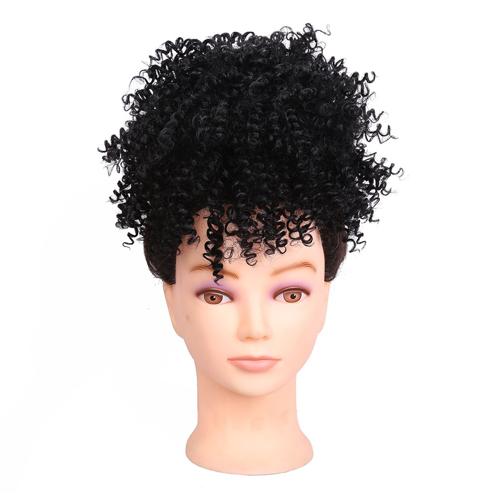 Amazon Synthetic Afro Kinky Curly Hair Bun Extension Donut