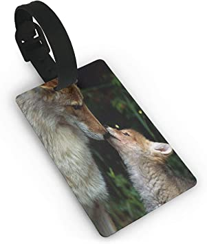 Wolf Travel Tags For Travel Tags Accessories 2 Pack Luggage Tags