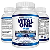 VITAL ONE Multivitamin for Men - Daily Wholefood Supplement - 150 Vegan Capsules - Arazo Nutrition