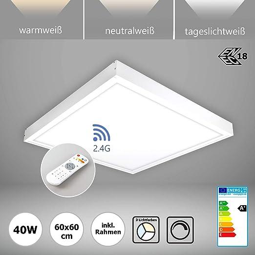 Lámpara LED de techo regulable con mando a distancia 60 x 60