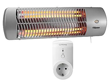 Radiador halógeno cambiador enchufe + WiFi, adecuado para estancias húmedas, hasta 1200 W, calefactor baño Radiador: Amazon.es: Bricolaje y herramientas