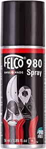 Felco Tool Lubricant (F 980) - Biodegradable Synthetic Maintenance Product Spray Grease,Red, Black