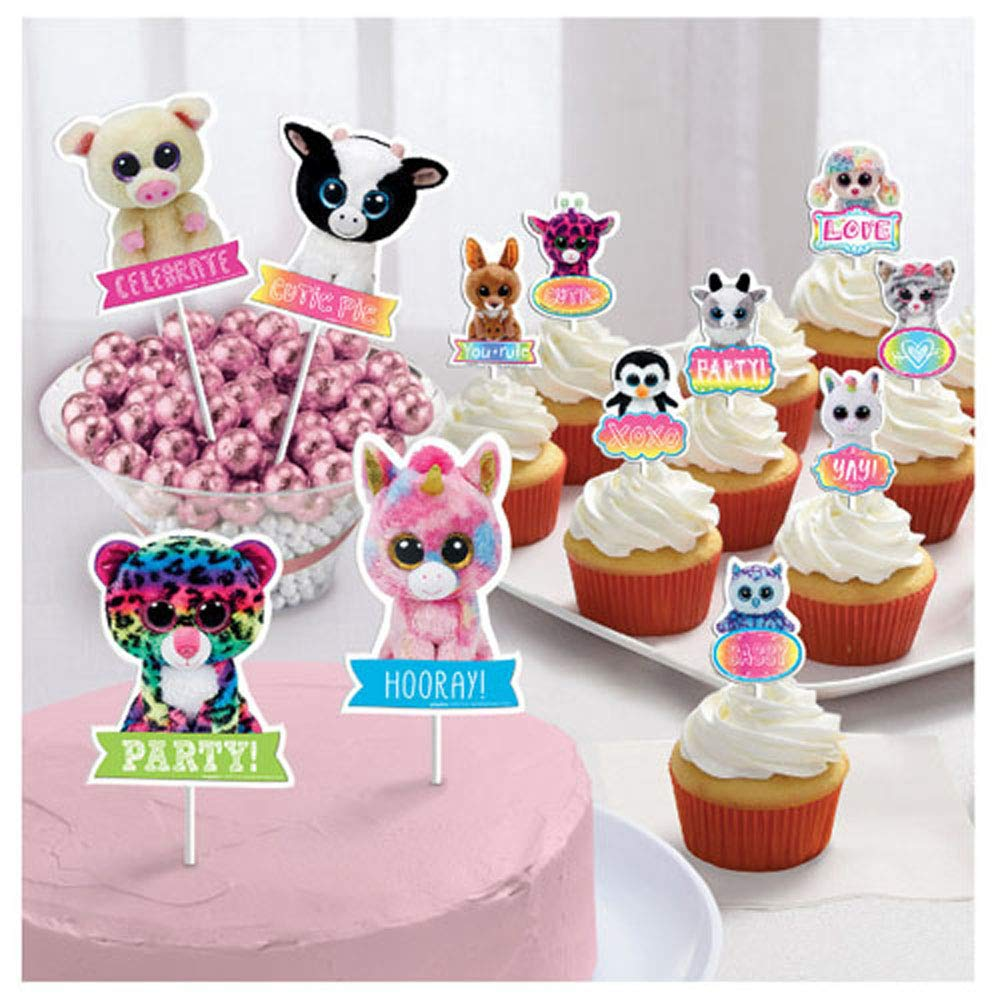 Beanie Boos Cake Toppers 12pc