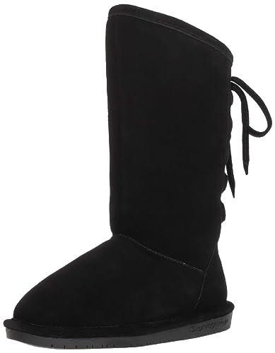 903704c6df529 Bearpaw Kid's Phylly Boots, Black Suede, Wool, Sheepskin, 1 Little Kid M