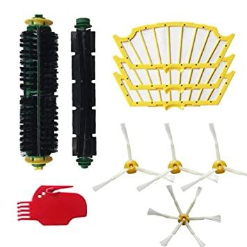 Amoy Kit de cepillos y filtros Compatible iRobot Roomba 500 Serie 530 521 555 560 Robot