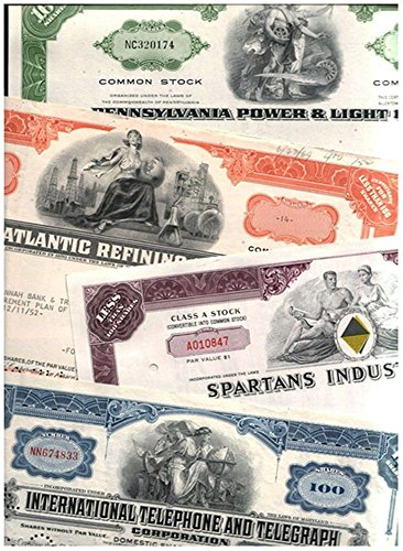 1965 AMAZON SPECIAL! 100 DIFFERENT RARE ORIGINAL U.S. STOCKS, BONDS and DEBENTURES @ 35c! MANY BIG NAMES! LOWEST PRICE ON EARTH! EXTRA FINE (AVERAGE GRADE) (Certificate Bond Paper)