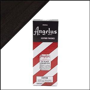 Angelus Brand Leather Dye W/applicator - 3 Oz ''Jet Black''