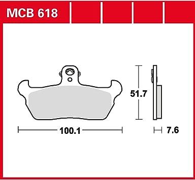 Bremsbelag Lucas Mcb618 Organischer Allround Bremsbelag Auto