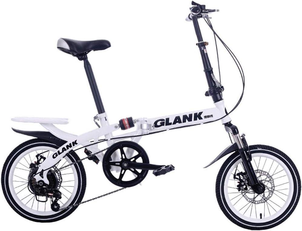 YOUSR Bicicleta Plegable De Velocidad Variable, Bicicleta Plegable ...