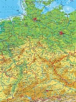 Carte Allemagne Geographique.Puzzle 500 Teile Carte De L Allemagne Geographique Et