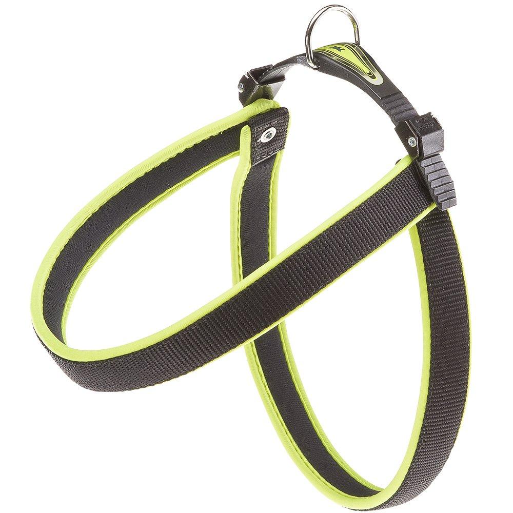 Ferplast Agila Fluo 9 Dog Harness, Yellow Green, 30.31  33.46