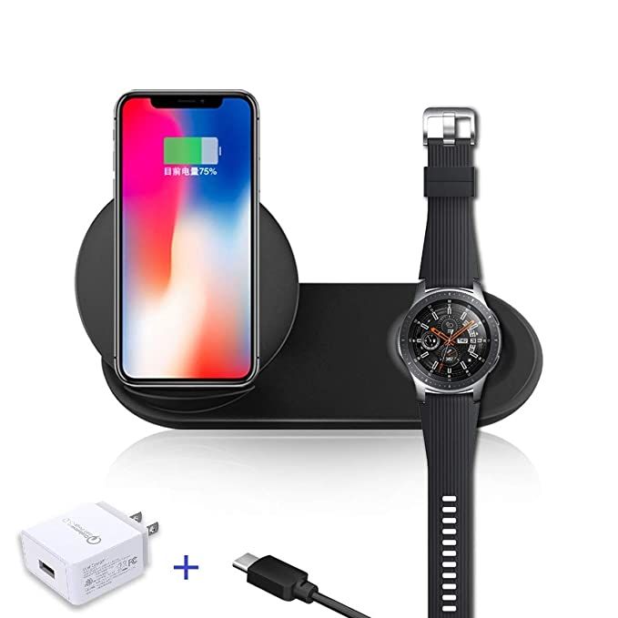 best authentic 49dd7 3b76d Wireless Charger - Wireless Charging Pad - Charging Station - for Galaxy  S10/S8/S9/Plus Note8/Note9 iPhone 8/8Plus/X/Xr/XsMax Galaxy Watch 42mm/46mm  ...
