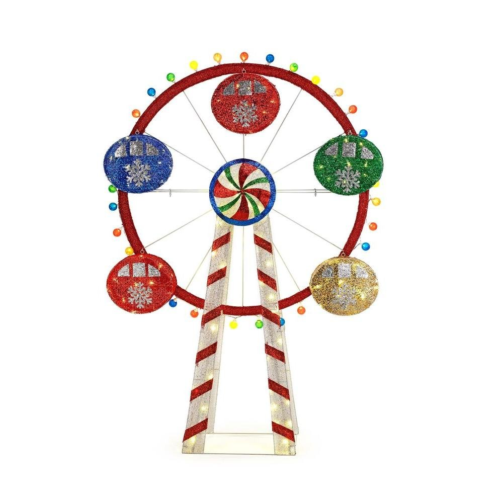 Home Accents Holiday 72 in. LED Lighted Mesh String Ferris Wheel by Home Accents