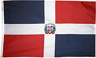 product image for Annin Flagmakers Model 192259 Dominion Republic Flag 3x5 ft. Nylon SolarGuard Nyl-Glo 100% Made in USA to Official United Nations Design Specifications.