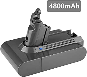 [Upgraded 4800mAh] 21.6v Replacement for Dyson Battery V6 595 650 770 880 DC58 DC59 DC61 DC62 Animal DC72 Series Li-ion Handheld Vacuum 21.6 Volt Batteries