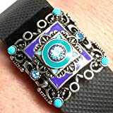 Fitband Bling Fitness Band Accessory ''Midnight Carnival'' for Fitbit Flex 2; Charge 2; Charge; Charge HR; Alta; Flex; Jawbone UP2; UP3; Garmin vivosmart