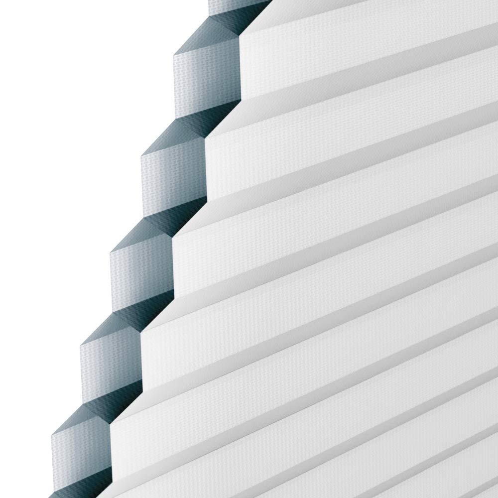 Original VELUX Faltstore Plissee DuoLine Abdunkelung Wabenstruktur FHC P08 1045 Uni Wei/ß passgenau f/ür GGL GPL GHL GTL P08 und 408 mit Aluminium F/ührungsschienen //// FHC P08 1045S