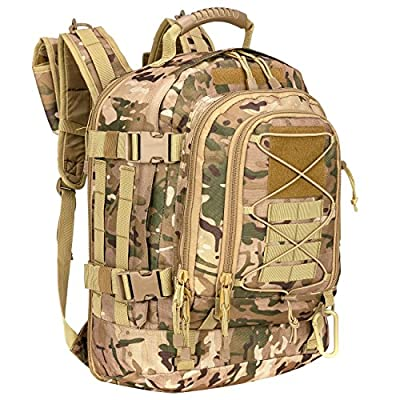 WolfWarriorX Military Tactical Assault Backpack 3-Day Expandable Backpack Waterproof Molle Rucksack For The Outdoors, Camping, Hiking & Trekking