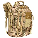 assault pack multicam - WolfWarriorX Military Tactical Assault Backpack 3-Day Expandable Backpack Waterproof Molle Rucksack For The Outdoors, Camping, Hiking & Trekking (Multicam)