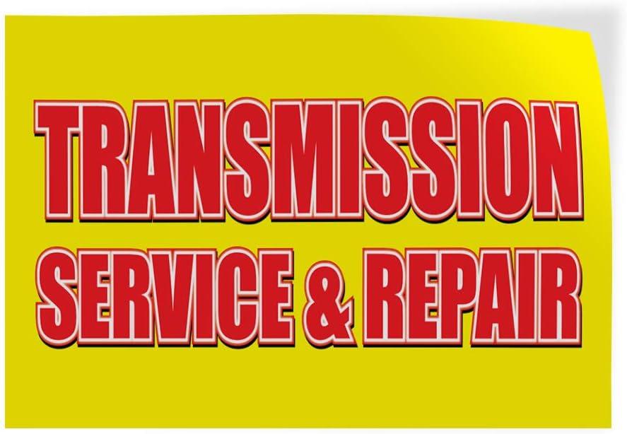 Decal Sticker Multiple Sizes Transmission Service /& Repair Auto Car Vehicle Automotive Transmission Service Repair Outdoor Store Sign Yellow Set of 5