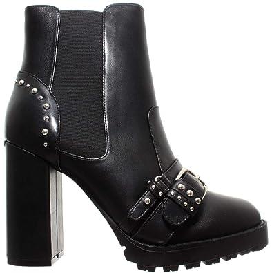 f45c42e147c Liu Jo Chaussures Bottes Femmes Karen 05 Beatles Booty Calf Leather Black  Cuir