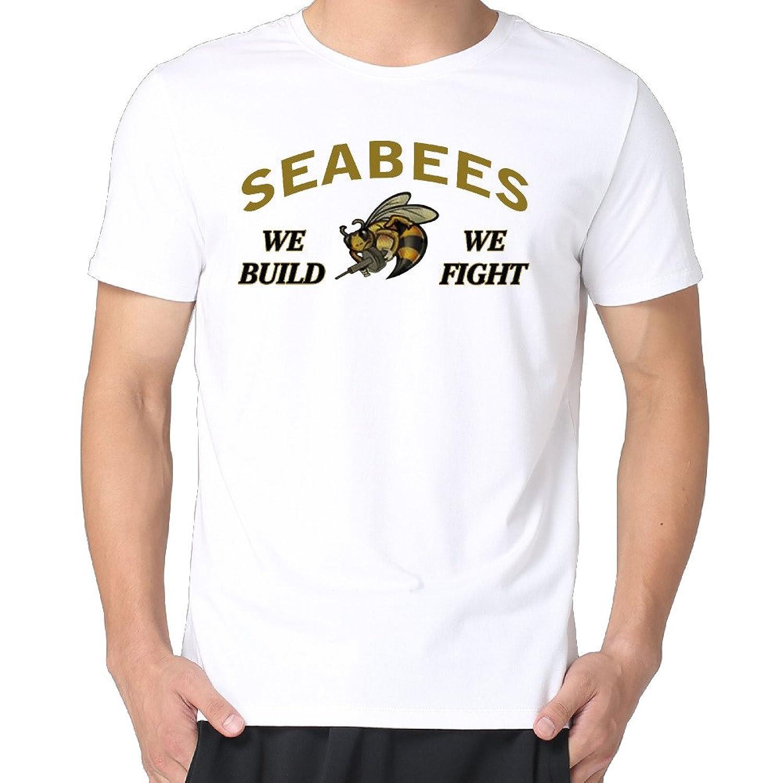 Anch Men's Navy Seabees Short Sleeve Crew NeckT-Shirts