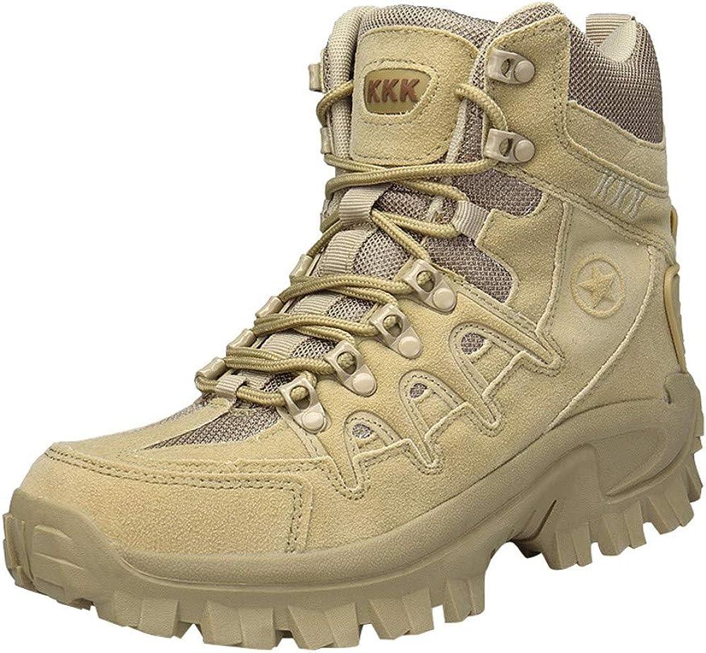 Botas de Cuero de Senderismo Botas de Combate para Hombre QinMM Botines de Invierno Casual Zapatos