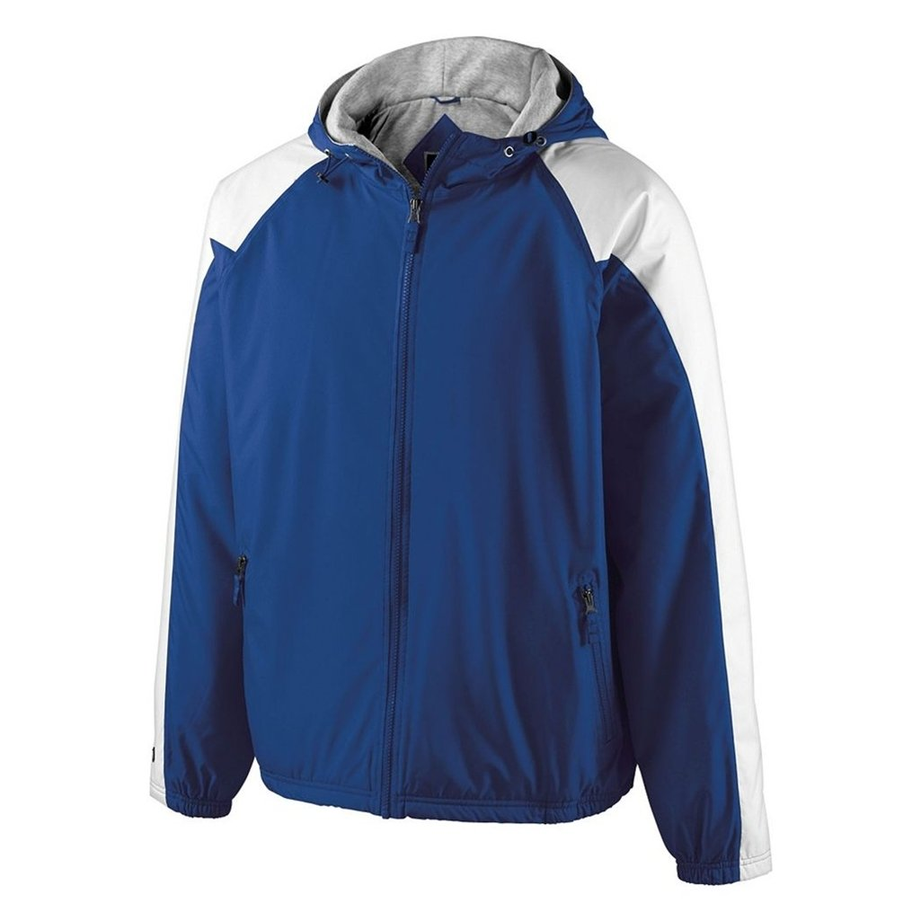 Holloway Youth Homefield Shell Jacket (Large, Royal/White) by Holloway