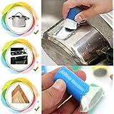 Demarkt Mejores Herramientas de Cocina del metal del acero inoxidable de la cocina de limpieza Detergente palo de cepillo de lavar olla de cocina