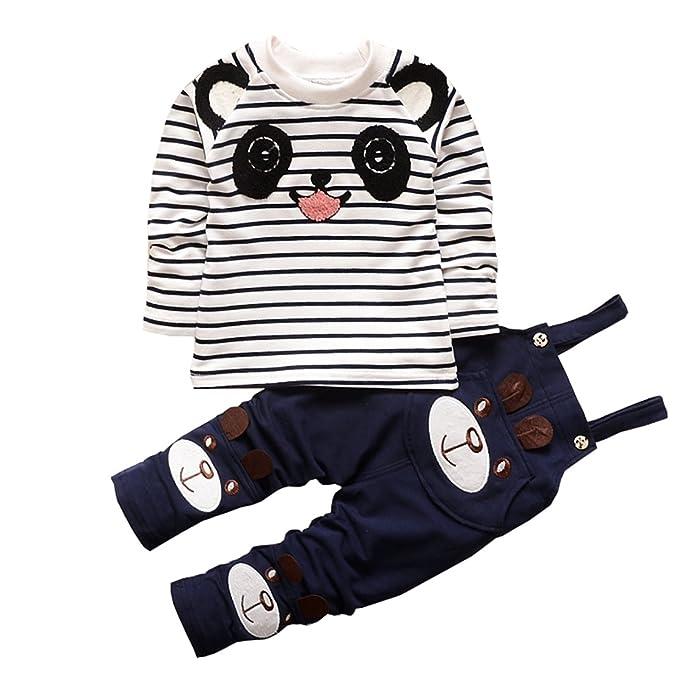 Amazon.com: daqinghjxg niños conjuntos de ropa bebé Cartoon ...
