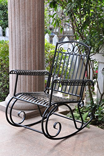 Iron Scroll Patio Rocker by International Caravan