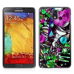 Designer Depo Hard Protection Case for Samsung Galaxy Note 3 N9000 / Colorful Flower Abstract Kimberly Kurzendoerfer