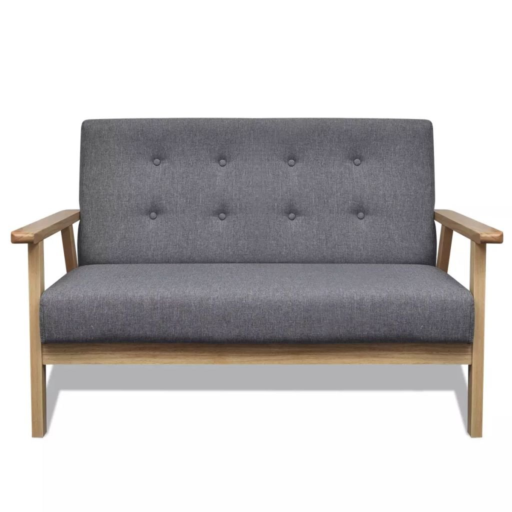 Amazon.com: Sofa Gray Fabric Sofa Sectional Sofa Seat Total ...