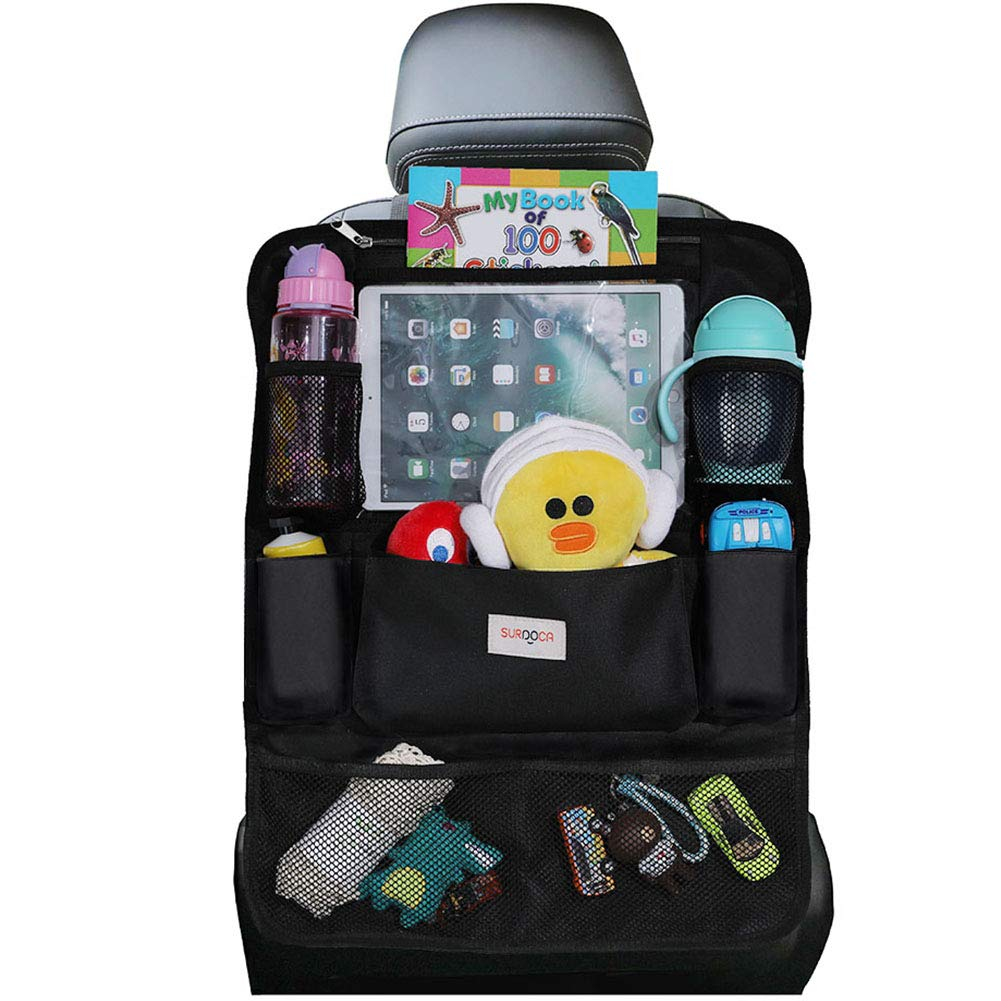 SURDOCA Autositz-Organizer – 4th Generation verbesserter Auto-Organizer Rücksitz für bis zu 10,5 iPad, 9 Taschen, Kinderspielzeug-Aufbewahrung,…