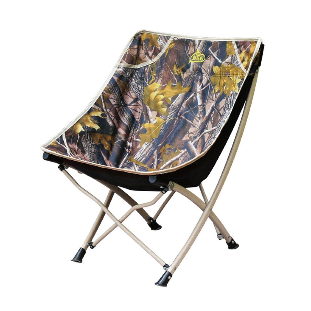 LDFN Portable Camping Chair Außen- Klappstühle Strand Skizze Oxford Tuch Und Stahlrohr Stuhl,OneFarbe-604073cm