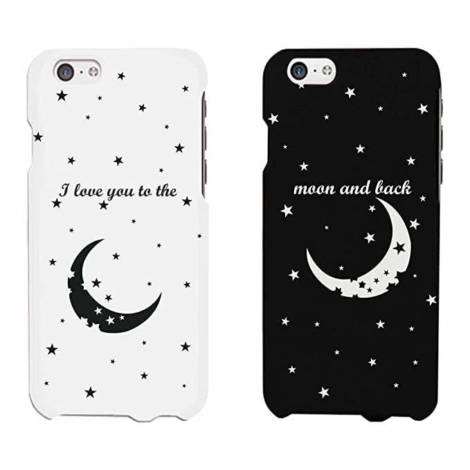 new arrival 5b1ae 5f4b3 Amazon.com: I Love You To The Moon And Back Matching Phone Cases ...