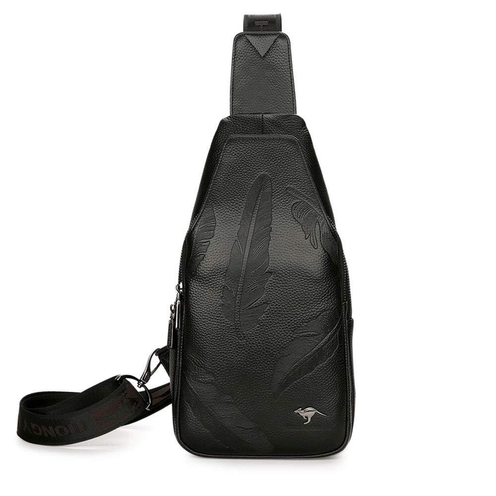 Color : Black DQMSB Retro Mens Shoulder Bag Fashion Business Messenger Bag Tote Bag Briefcase Mens Bag