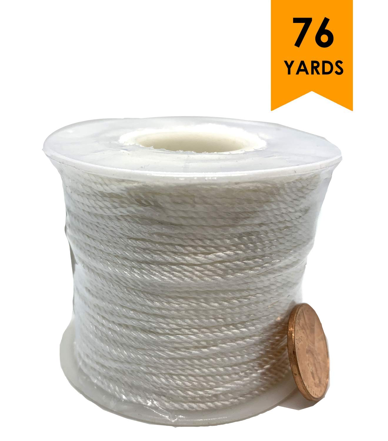 White Twisted Twine Mason Line 76 yd Golden Leaf