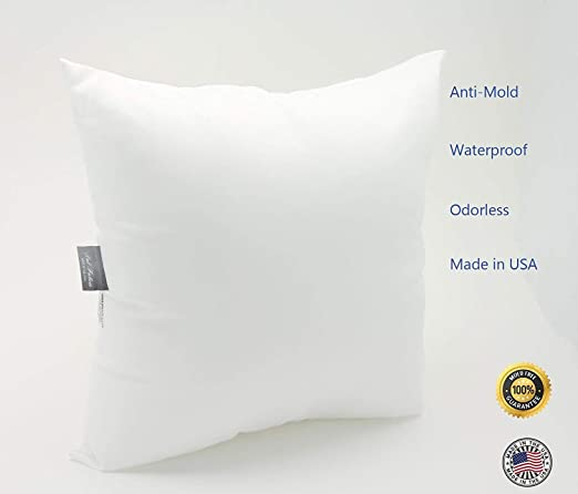 Pal Fabric Outdoor AntiMold Waterproof Square Sham Pillow Insert Impressive 14x18 Pillow Insert