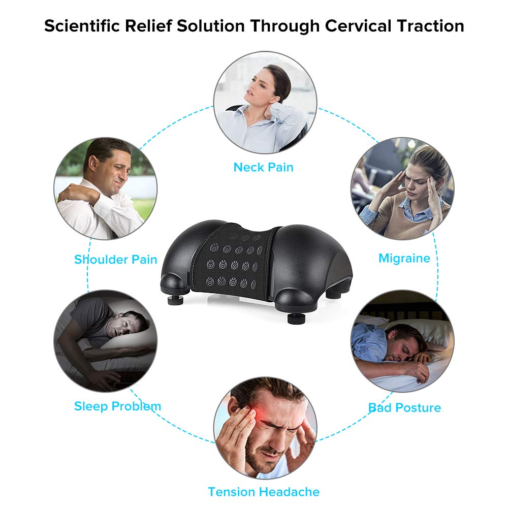 Cervical Neck Traction Device Portable Cervical Orthotic Pillow for Neck and Shoulder Pain Relief and Relaxation at Home