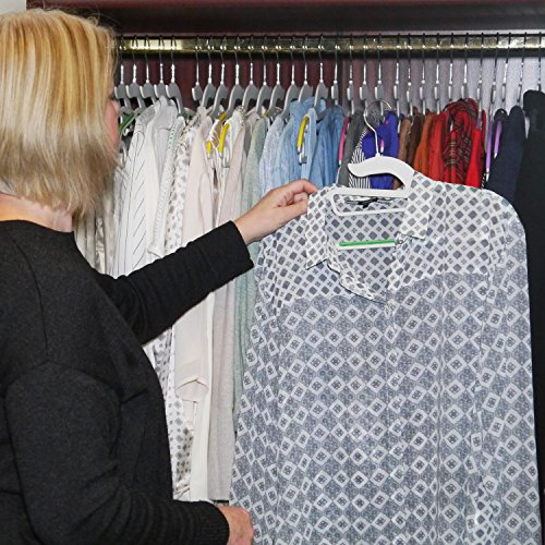 HOOKED Premium Non-Slip Hangers Care For your Clothes & Organize Your Closet! Slim Shape Saves Space Helps You Choose Your Clothes & Look Your Best! Strong ABS Plastic Won't Snap! (Set of 20 - Floral)