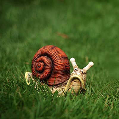 """Danmu 1Pc of Polyresin Snail Statue for Home Garden Lawn Yard Decoration Indoor and Outdoor Statue (S 5.12"""" x 2.36"""" x 3.15"""") : Garden & Outdoor"""