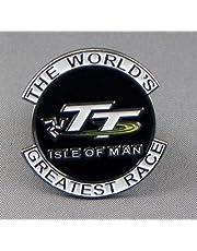 Metalen glazuur Pin Badge Biker Isle of Man TT Grootste Bike Race