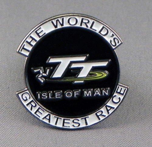 Metal Enamel Pin Badge Biker Isle of Man TT Greatest Bike Race